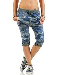 malito corto Boyfriend Pantalón con camuflaje Print Sweatpants Fitness Baggy 3469 Mujer Talla ÚnicaTalla Única