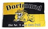 Fahne / Flagge Dortmund Bulldogge