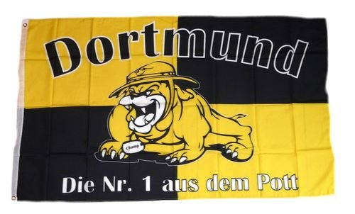 Fahne / Flagge Dortmund Bulldogge Fan 90 x 150 cm