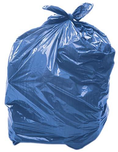 Alina 25 x 90L Bleu Sac Poubelle coloré/Sac Poubelle en polyéthylène/Sac Poubelle en Plastique/Sac Poubelle Bleu 90 litres/Usage Moyen (28 microns/Calibre 112) (25 Sacs)