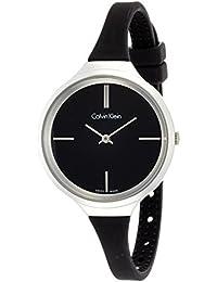 Calvin Klein DamenArmbanduhr Analog Quarz Silikon K4U231B1