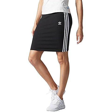 Gonna adidas – 3 Stripes Skirt nero/bianco formato: 44 M (Medium)