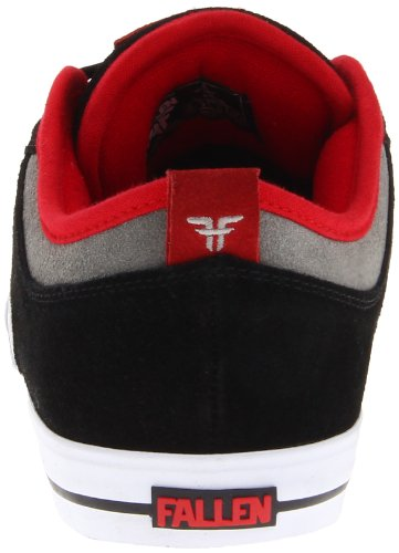 "Fallen CLIPPER SE ""41070067 "", Sneaker uomo Nero (Schwarz (black/cement grey/blood red))"