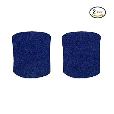 Senston Coton bracelet éponge Bandeau de poignet Serre-poignets pour le sport (10 couleurs)