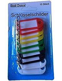 Best Choice Lot de 10 Porte-clés identificateurs Porte-étiquettes