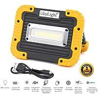 Foco LED proyector recargable ultra compacta 10 W   1000LM   8 horas D 'autonomía   impermeable   batería Emergencia 4400 mAh   para obras garaje tuercas labor actividad exterior