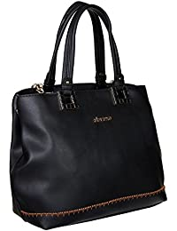 Abrazo Fashionable Black Color Hand Bag For Women's In Good PU Material - B07BG9SNVT
