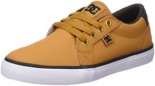 DC Shoes Council, Scarpe da Ginnastica Bambino, Marrón (Wheat / Dk Chocolate), 37 EU