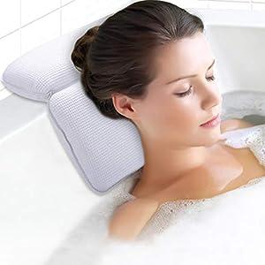 almohadilla de baño: Kapmore Almohada de Baño, Almohadas de Baño de SPA Ventosas Fuertes Almohadillas...