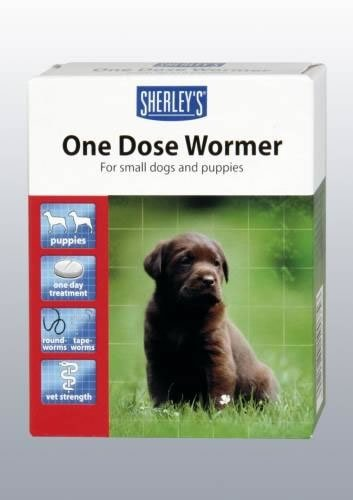 Sherley's One Dose Wormer Small Dog & Puppy 6 Tablet Up To 20kg (TP)(SHODW6-BROWNLABPUPPY) 1