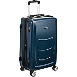 AmazonBasics Valise rigide à roulettes pivotantes, 78 cm, Bleu marine