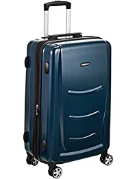 AmazonBasics 77 cm Navy Blue Hardshell Check-in Trolley