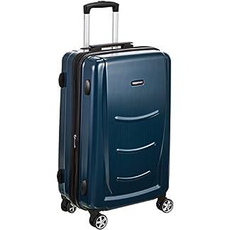 AmazonBasics – Maleta rígida – 55 cm Tamaño de cabina, Azul Marino