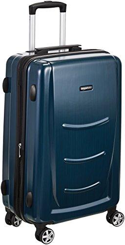 AmazonBasics - Trolley rigido con rotelle girevoli, 78 cm, Blu Marino