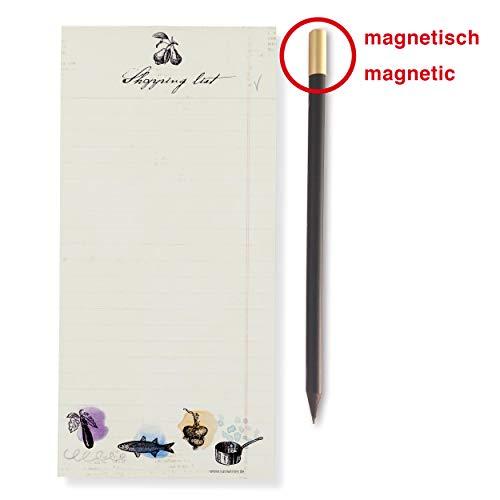 Susi Winter Design & Paper 18033 Shopping List mit Magnetbleistift Magnetblock