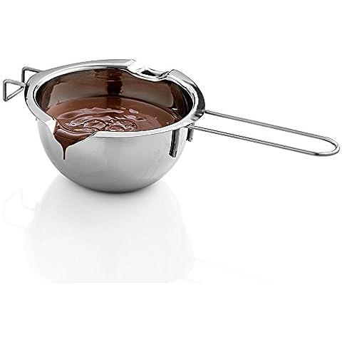 ibeet Super doppia caldaia Vasi universale Inserto–Padella in acciaio inox 18/8, Capacità 2tazze, 2Pour beccucci–Cioccolato Melting Vasi, strumenti di cottura–Ideale per cucina, cucina, cottura, cucina