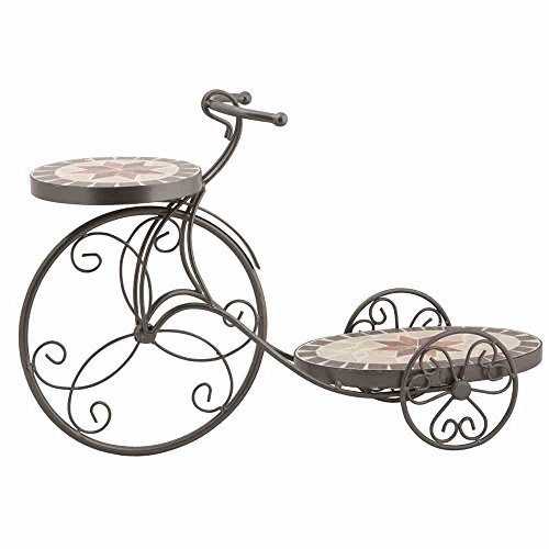 siena-garden-168257-stella-soporte-para-macetas-58-x-19-x-385-cm-aspecto-de-mosaicos-diseno-de-bicic