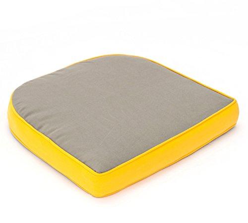 VTB Hambiente Stuhlkissen für Geflechtsessel Hülle mit Reißverschluss abziehbar waschbar Farbe taupe
