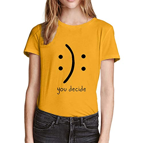 VJGOAL Damen Shirt, Frauen Mädchen Sommer Einfach Elegant -