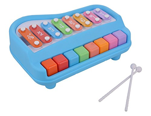 Toyshine Musical Xylophone and Piano, Non Toxic, Non-Battery, Big