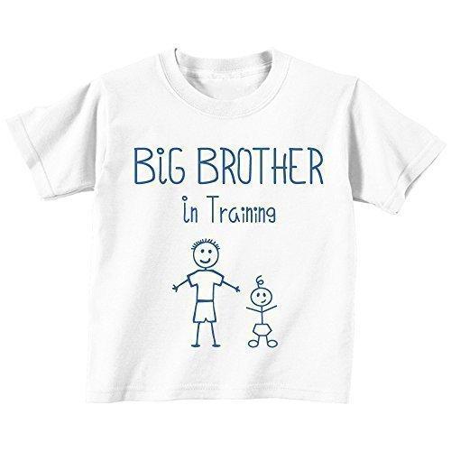 aining weiß T-shirt Baby Kleinkind Kinder Verfügbar in Größen von 0-6 Monate wird 14-15 Jahre Neu Baby Bruder Geschenk - Weiß, 92 (Kleinkind-größe 4)