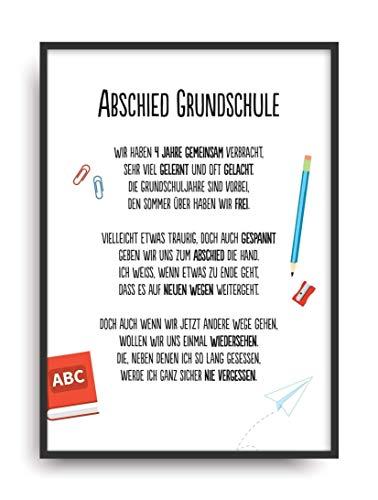 IED GRUNDSCHULE Kunstdruck Schule Lehrer Schüler Bild ohne Rahmen DIN A4 ()