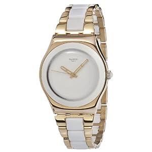 Swatch Irony Medium Rose Pearl YLG121G – Reloj analógico de Cuarzo para Mujer, Correa de Diversos Materiales Multicolor