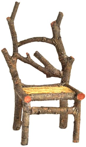 Top Kollektion Enchanted Story Garden Fairy Möbel hoch Holz Stuhl Outdoor Decor