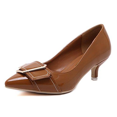 GS~LY Geschenk der Mutter Tages In der einzigen Schuhe Frauen flach Mund vier Jahreszeiten einzelne Schuhe Light Brown