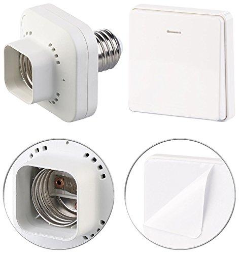 CASAcontrol Funkfassung: E27-Lampenfassung mit kinetischem Funk-Taster (groß), bis 60 Watt (Schalter)