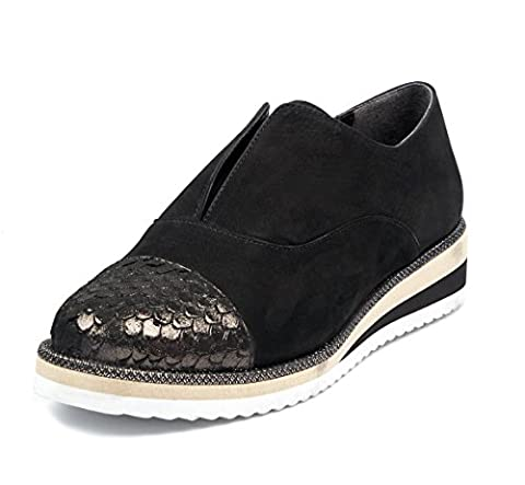 BOBERCK Lennon Colection Women's Casual Fashion Sneakers Shoes (9 US, Black)