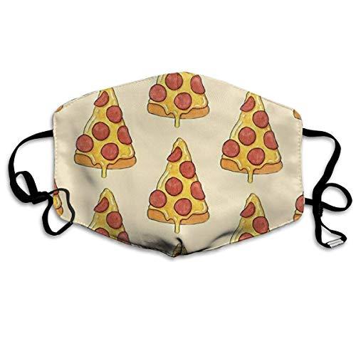 laufen aus hochwertigem Polyester, atmungsaktiv, mit Pizza-Druck, verstellbarer, elastischer Gurt, winddicht, wiederverwendbar, waschbar, Anti-Flu ()