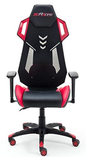 Robas Lund MC Racing Gaming de/de Escritorio/Silla de Oficina, 69x 129x 64cm, Negro/Gris, 69 x 129 x 64 cm