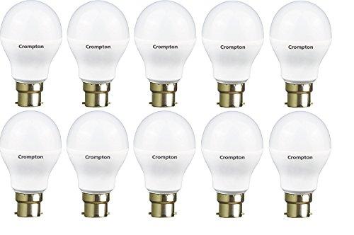 Crompton 9-Watt B22 Base LED Bulb (Pack of 10, Cool Day Light)