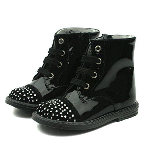SB161 Studio BIMBI Baby Boots w/zip High for Girls >     > Bottes bébé avec zip pour les filles Black (noir)