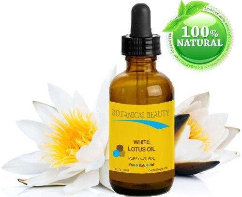 BLANC LOTUS HUILE Naturelle - 30ml. Pour visage corps et cheveux.Une des meilleures huiles régénératives et anti-âge pour la peau. Riche en source naturelle de Vitamine C, protéines et minéraux.