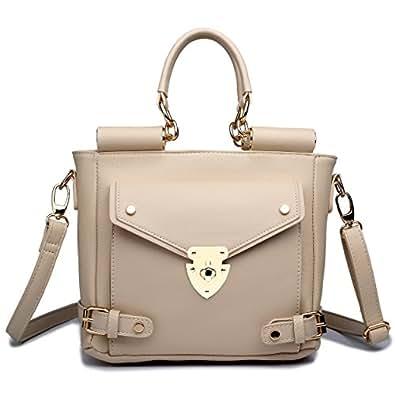 Miss Lulu Womens Faux Leather Skull Handbag Black & Pink L1101S BK/PM