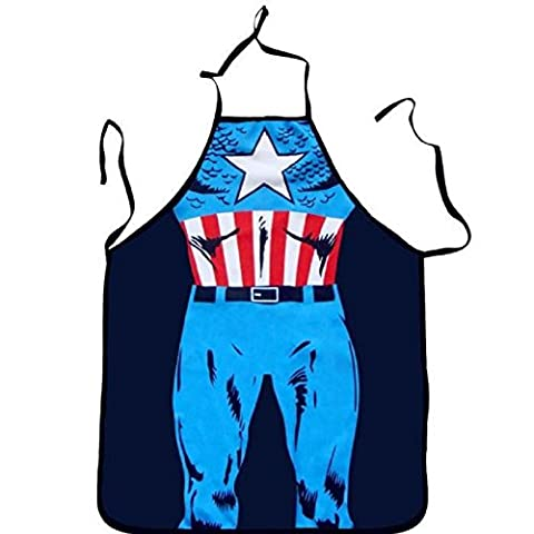 tablier de cuisine homme captain america sexy barbecue humour cooking coquin