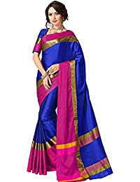 Ruchika Fashion Women'S Cotton Silk Saree With Blouse Piece Material