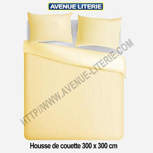 Avenue Literie Bettbezug, 300 x 300 cm, Polycotton, elfenbeinfarben -