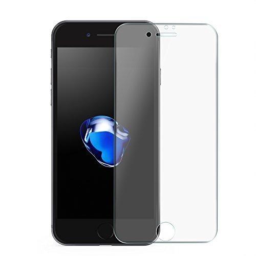 Wunderglass - Panzerglas Screenprotector kompatibel mit iPhone 6, 7 und 8 Full Cover - Curved Glas Displayschutz mit [umlaufenden Silikonrand] Glasfolie aus echt Glas - Transparent