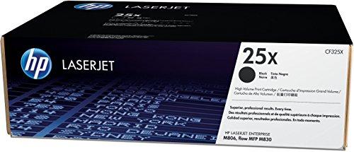 HP 25X (CF325X) Schwarz Original Toner mit hoher Reichweite für HP Laserjet Enterprise M806dn, Flow M830z