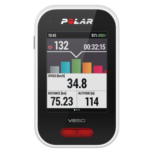 Polar V650Ciclismo Ordenador - 90050534, con Monitor de Ritmo cardíaco, Regular
