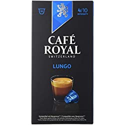 Café Royal Lungo 100 cápsulas compatibles con Nespresso, Intensidad: 4 de 10 (Pack de 10 x 10 cápsulas)