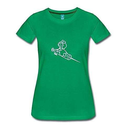 Krankenschwester Frauen Premium T-Shirt von Spreadshirt®, XXL, Kelly Green (Krankenschwestern Pflege T-shirt)