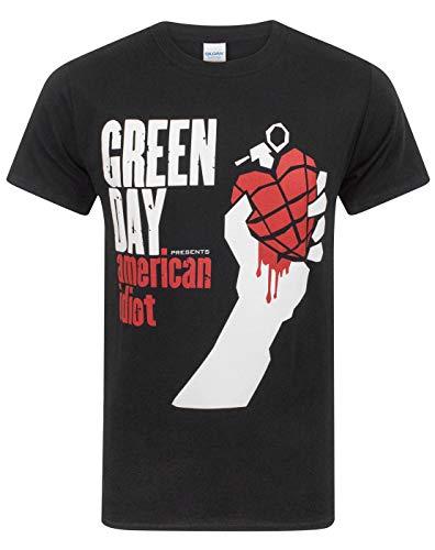 Unknown American Idiot - Camiseta Manga Corta para Hombre, Color Negro, Talla M
