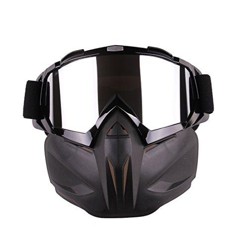 Seciie Gesichtsmaske Kinder, Taktische Maske Paintball Airsoft Maske mit Brille Schutzmaske im Klassisch-Stil für Nerf Rival -