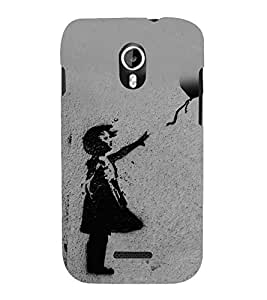 Child with a Balloon 3D Hard Polycarbonate Designer Back Case Cover for Micromax Canvas Magnus A117 :: Micromax A117 Canvas Magnus