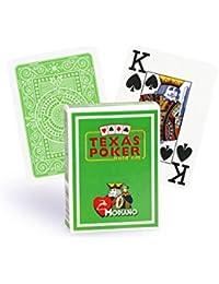 Cartes Texas Poker 100% plastique (vert clair)