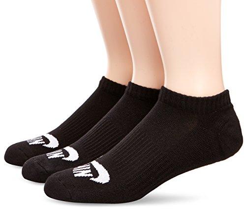 NIKE Erwachsene Socken SB No-Show 3 Pair Skateboardsocken, Black/White, L (EU 42-46)